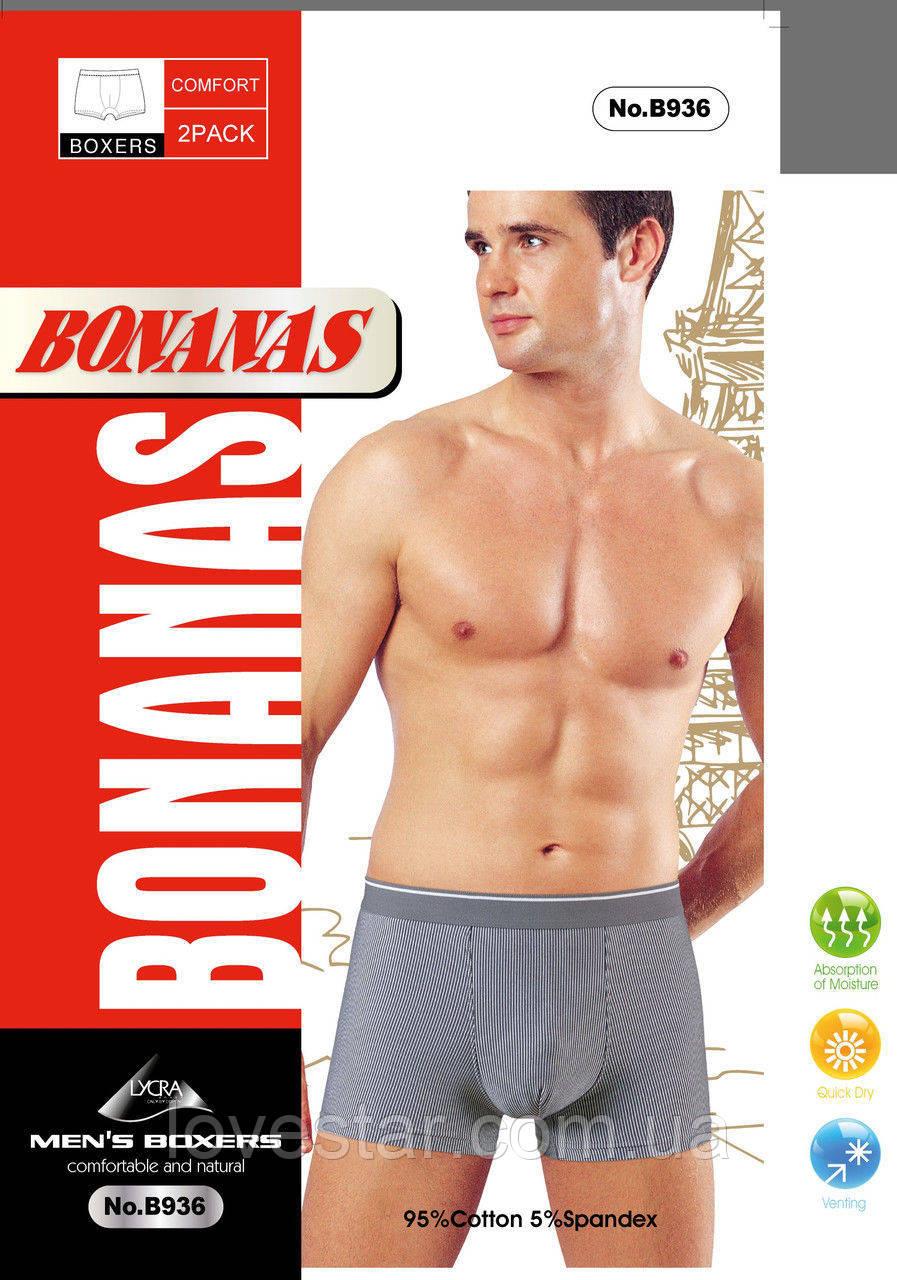 Мужские стрейчевые боксеры «Bonanas» L-3XL