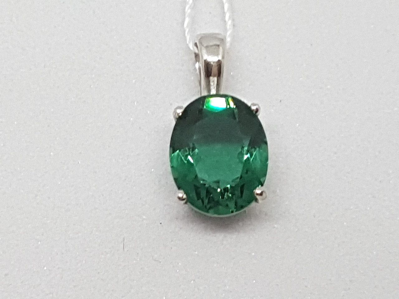 Серебряная подвеска Версавия с зеленым кварцем. Артикул 3830р-QGR