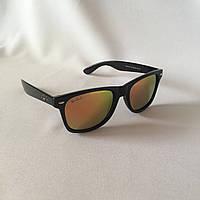 Солнцезащитные очки Полароид Ray Ban Wayfarer оранжевый