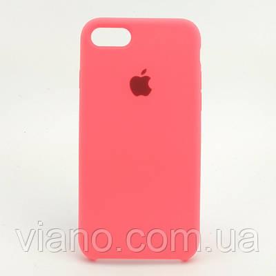 Силиконовый чехол iPhone 7/8 (Каралловый). Apple silicone case