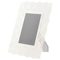 СКУРАР Рама для фотографий, металическая, белый, 13x18 см 50310627 IKEA, ИКЕА, SKURAR