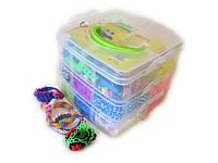 Набор для творчества Cube-3600 (в стиле Rainbow Loom), фото 1