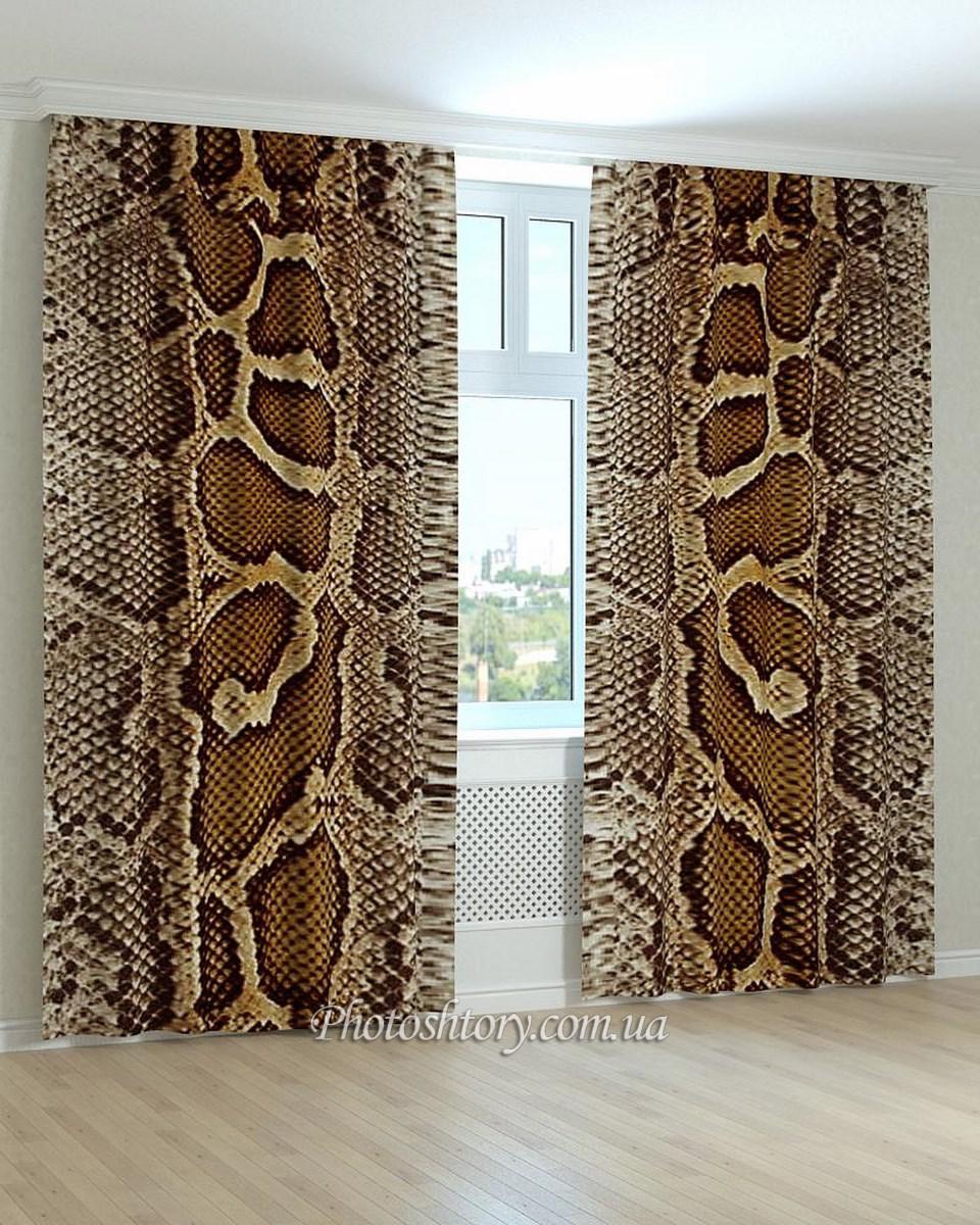 Фотошторы текстура кожа змеи