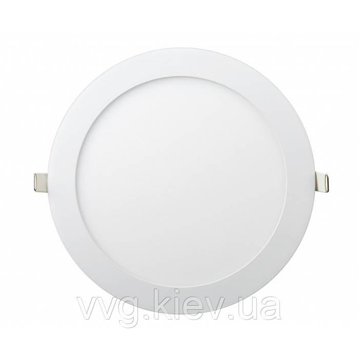 Точечный LED светильник встраиваемый круглый 18W Ø225мм/Ø205мм 4200K 1440lm Lezard