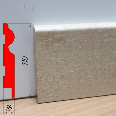 Плинтус МДФ нестандартной формы, высотой 110 мм, 2,8 м Клён