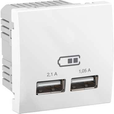 USB розетка 2 модуля,1A Unica Schneider Electric, фото 2