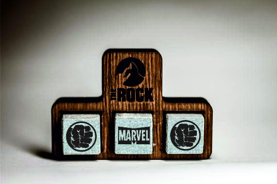 Камни для виски Whiskey stones THEROCK MARVEL Comics Hulk