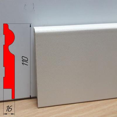 Кремовый высокий плинтус МДФ, высотой 110 мм, 2,8 м Крем