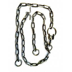 Цепи трехконцевые 4мм круглозвенные для привязи КРС - цепи 3х концевые сварные ВРХ