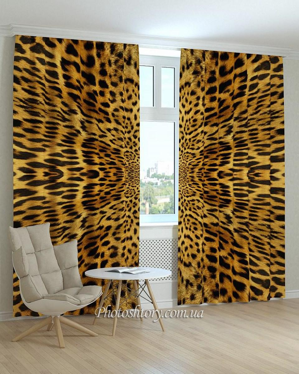 Фотошторы текстура леопарда