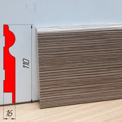 Плинтус МДФ на клею, высотой 110 мм, 2,8 м Модрина