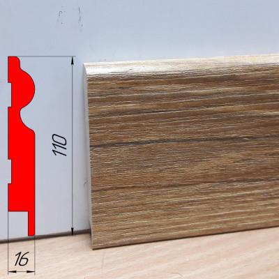Тонкий дизайнерский плинтус, высотой 110 мм, 2,8 м Монблан натур