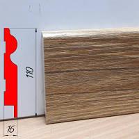 Тонкий дизайнерский плинтус, высотой 110 мм, 2,8 м Монблан натур, фото 1