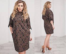 """Теплое шерстяное мини-платье """"OLIO"""" с карманами (большие размеры), фото 3"""