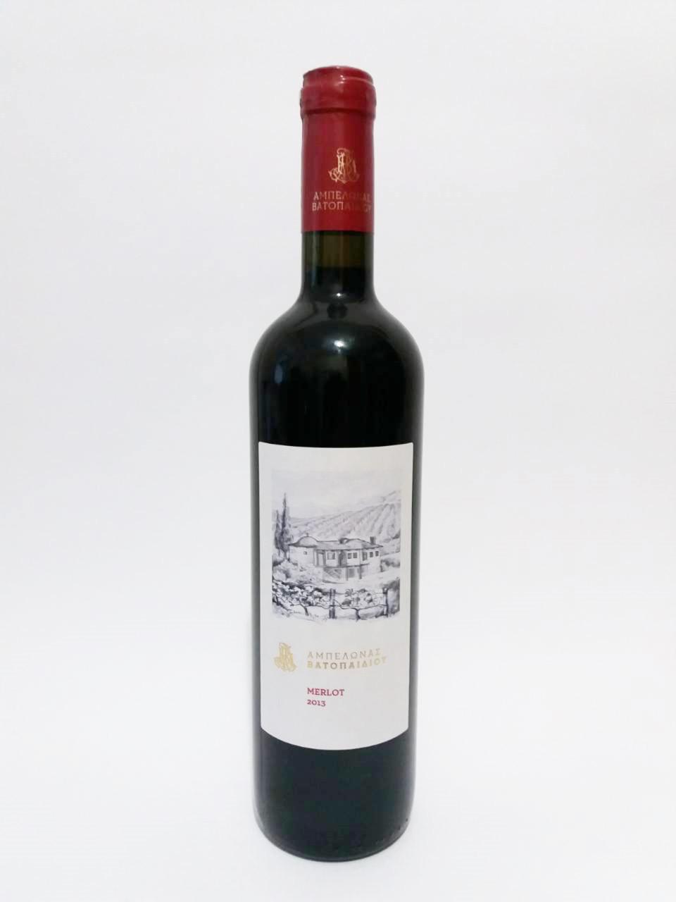 Красное вино Merlot  Ватопед