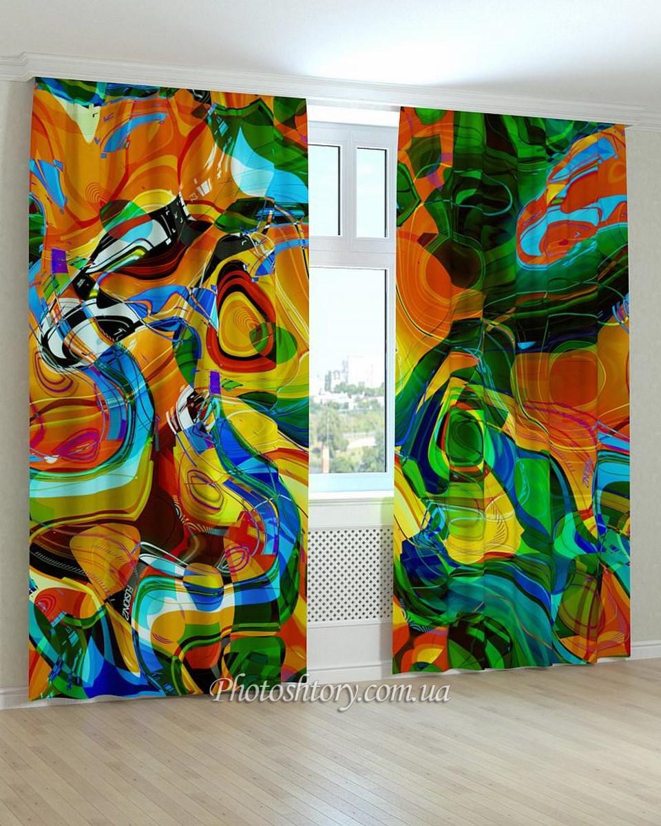 Фотошторы разноцветный витраж