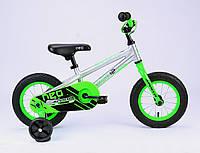 """Детский велосипед 12"""" Apollo Neo boys салатовый/черный 2018 с дополнительными колесами ТМ Apollo SKD-41-48"""