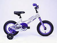 """Детский велосипед 12"""" Apollo Neo girls фиолетовый/белый 2018 с дополнительными колесами ТМ Apollo SKD-66-57"""