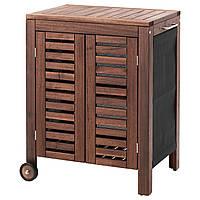 ÄPPLARÖ / KLASEN Шкаф с отсеком для хранения, снаружи, коричневая морилка 991.299.90