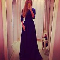 Платье в пол закрытое
