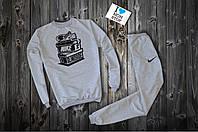 Спортивний сірий костюм Nike Blindside logo