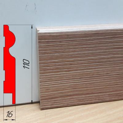 Подобрать плинтус под двери, высотой 110 мм, 2,8 м Фино-бронза