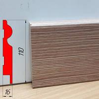Подобрать плинтус под двери, высотой 110 мм, 2,8 м Фино-бронза, фото 1