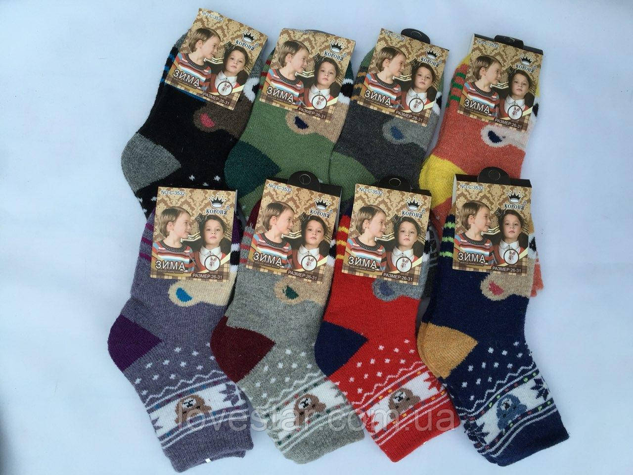 Шерстяные носки Ангора корона  (C3536) 26-31