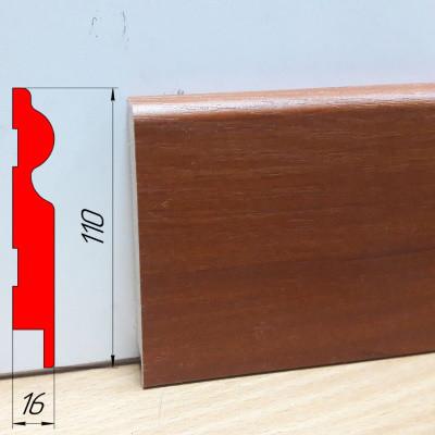 Плинтус МДФ высокий, высотой 110 мм, 2,8 м Яблоня