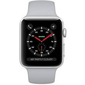 Apple Watch Series 3 38mm GPS Silver Aluminum Case with Gray Sport Band (MQKU2), фото 2