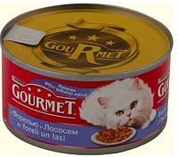Консервы для кошек  Gourmet  (Гурмет) ФОРЕЛЬ / ЛОСОСЬ