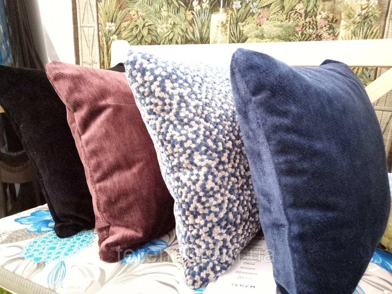 Подушка бархатная, в ассортименте разные цвета, 45х45