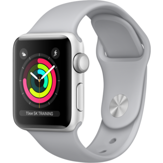 Apple Watch Series 3 42mm GPS Silver Aluminum Case with Gray Sport Band (MQL02)