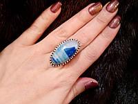 Кольцо с натуральным камнем - ботсванский агат в серебре.Кольцо с агатом.