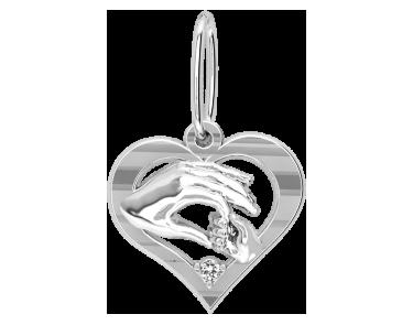 Подвеска - кулон серебряная Материнская любовь 60146