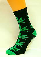 Высокие яркие носки с коноплёй женские
