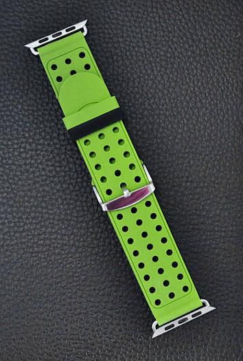Ремешок Apple Watch Band Two Tone 42 mm Зелёный силиконовый
