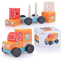Детская Деревянная игрушка Машинка - конструктор Путешествующий цирк Cubika LM-7 (13166