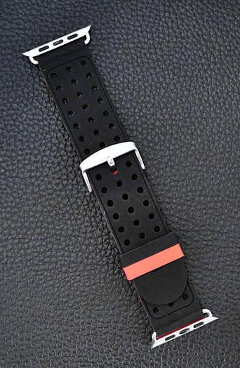 Ремешок Apple Watch Band Two Tone 42 mm Чёрный силиконовый