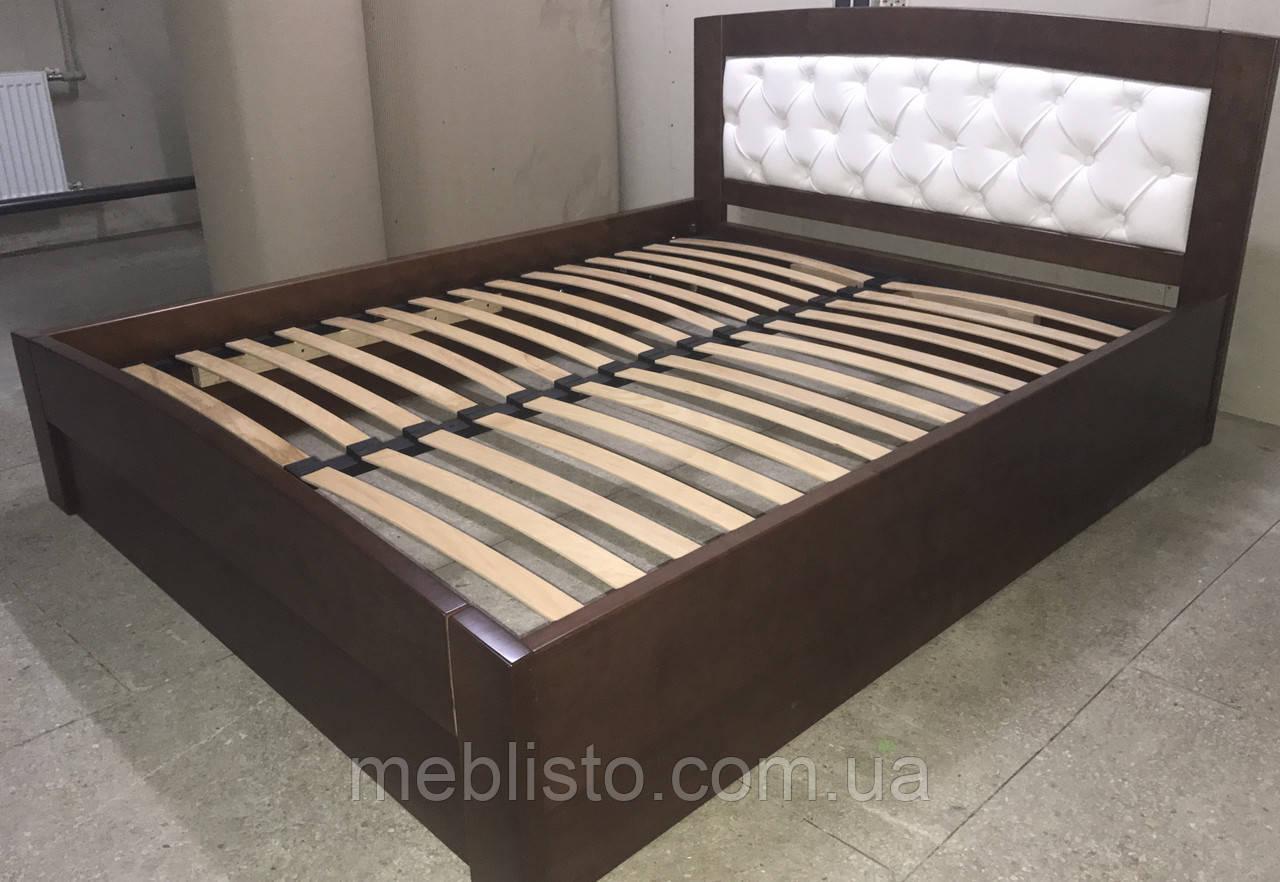 Кровать Верона зашита ольха 1.6 на 2м