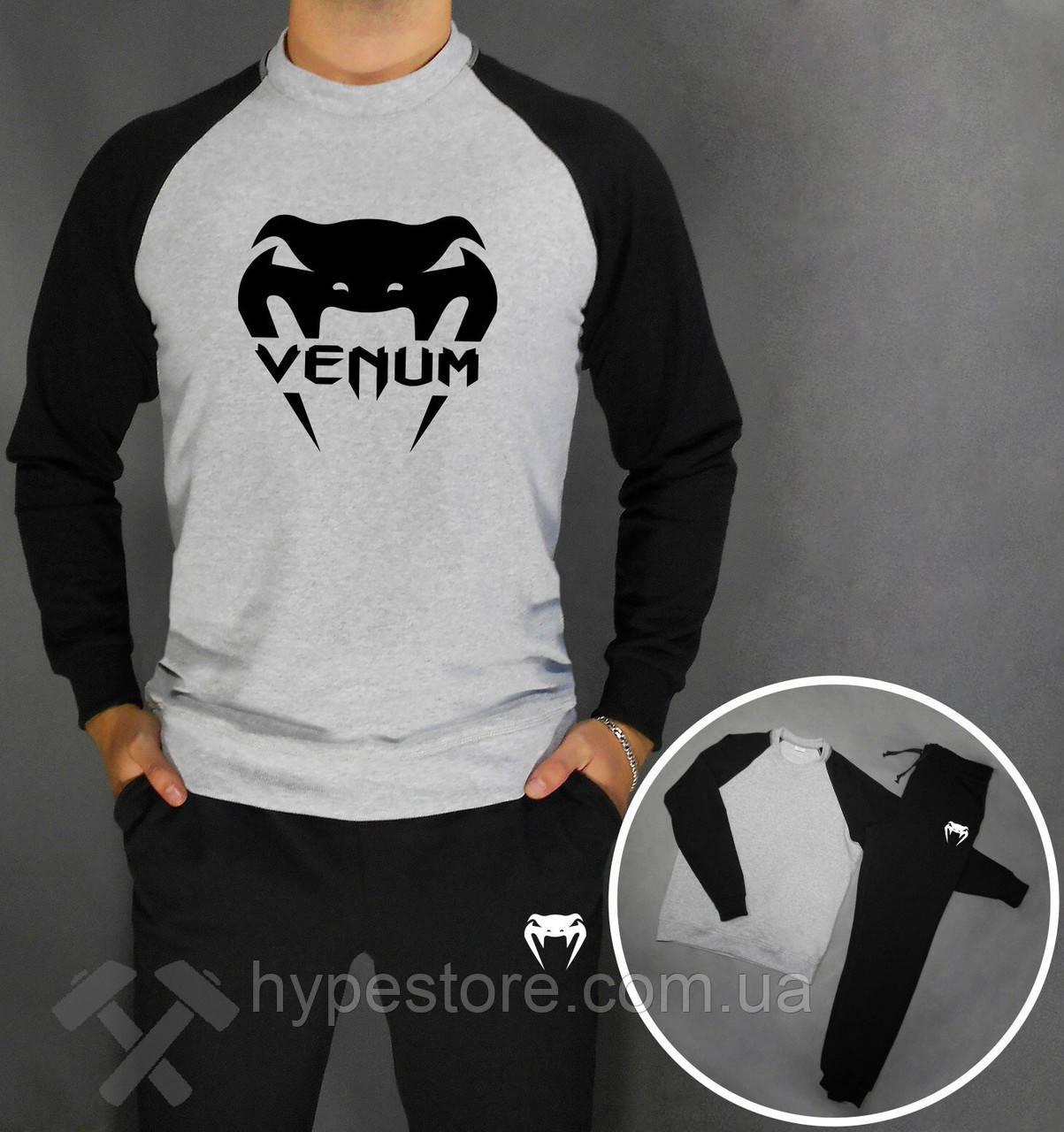 ff9e36810497 Спортивный Костюм, Реглан+штаны Venum с Черным Логотипом, Реплика — в  Категории