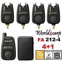 Набор сигнализаторов поклевки с пейджером 4+1 World4carp FA212-4