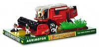 Детская игрушка для мальчиков машина комбайн с фигурками (3шт) Kinsmart 0064, инерционный