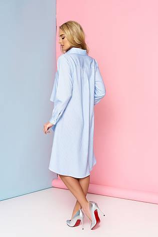 Туніка-плаття Марсель з бічними воланами розмір 44,46,48,50,52, фото 2