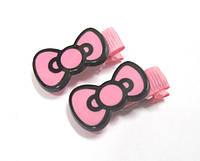 Детские заколочки для волос Бантики розовые