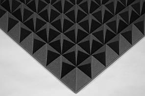 Акустичний поролон Ecosound піраміда XL 100мм 1х1м чорний графіт
