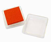 Чернильная подушка Оранжевая, 2,5х2,5 см
