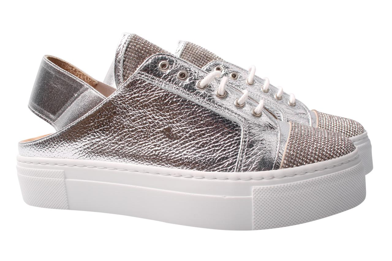 Туфли женские Tucino натуральная кожа, цвет серебро (платформа, комфорт, лето, Турция)