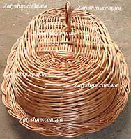Хлебница плетеная кофейная овальная
