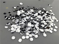 Конфетти фольга круги серебро 1,3 см 1 кг